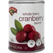 Hannaford Whole Berry Cranberry Sauce