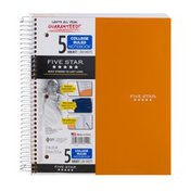 Mead Five Star 5 Subject College Ruled Notebook - 200 Sheets
