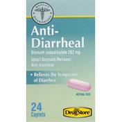 Lil Drug Store Anti-Diarrheal, 262 mg, Caplets