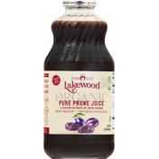 Lakewood Juice, Organic, Pure Prune, Fresh Pressed