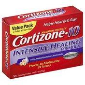 Cortizone 10 Anti-Itch Creme, Maximum Strength, Intensive Healing Formula, Value Pack