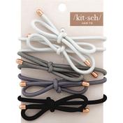 Kitsch Hair Tie, Black/Gray
