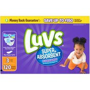 Luvs Super Absorbent Leakguards Newborn Diapers Size 3 120count Diapers