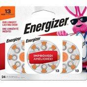 Energizer Batteries Size 13, Orange Tab