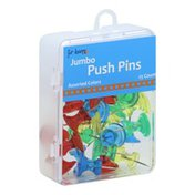 For Keeps Push Pins, Jumbo, Assorted Colors