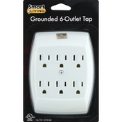 Smart Living Grounded Tap, 6-Outlet