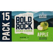 Bold Rock Hard Cider, Apple, 15 Pack