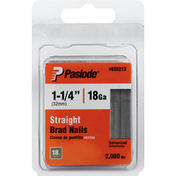 Paslode Brad Nails, Straight, Galvanized, 1-1/4 Inch