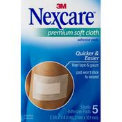 Nexcare Adhesive Pads, Premium Soft Cloth
