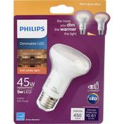 Philips Light bulb, LED, Soft White, 5 Watts