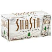 Shasta Sparkling Water, Draft Root Beer, Slims