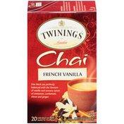 Twinings French Vanilla Chai Black Tea Bags