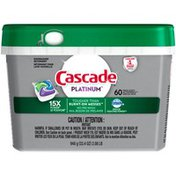 Cascade Platinum ActionPacs Dishwasher Detergent, Fresh Scent Cascade Platinum ActionPacs Dishwasher Detergent, Fresh Scent