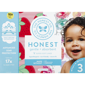 The Honest Company Diapers, 3 (16-28 Pounds), Strawberries, Rose Blossom