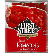First Street Tomatoes, Diced, in Tomato Juice