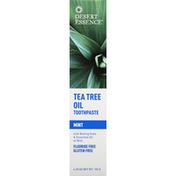 Desert Essence Toothpaste, Mint, Tea Tree Oil