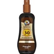 Australian Gold Sunscreen, with Instant Bronzer, Spray Gel, Broad Spectrum SPF 30