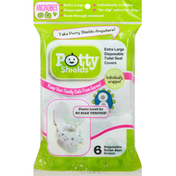 Potty Shields Toilet Seat Covers, Disposable, Extra Large