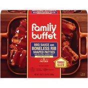 Family Buffet & BBQ Sauce 5 Ct Boneless Rib Shaped Patties