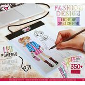 Fashion Angels Light Up Sketch Pad, LED Powered, Fashion Design
