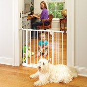 """Toddleroo by North States Easy Close Baby Pet Safety Gate - White -  28"""" to 38.5"""""""