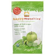 Happy Munchies Veggie & Fruit Crisps, Spinach & Apple
