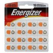 Energizer Batteries, Hearing Aid, Zinc Air, Size 13