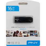 Pny Flash Drive, USB 2.0, 16 GB
