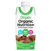 Orgain Organic Nutritional Shake, Creamy Chocolate Fudge - Ready to Drink, 16g Protein