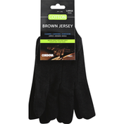Cordova Gloves, Brown Jersey, Cotton, Large