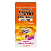Infant's Motrin Concentrated Drops, Dye-Free, Berry