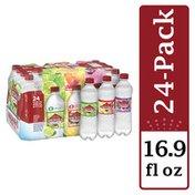 Arrowhead Sparkling Water, Pomegranate Lemonade, Triple Berry, and Lime