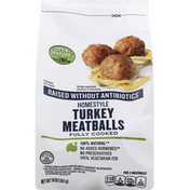 Open Nature Turkey Meatballs, Homestyle, Fully Cooked