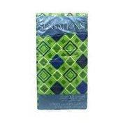Sensations Cool Diamond Geo 2 Ply Dual Design Guest Towels