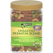 Planters Unsalted Premium Blend Nut Mix with Cashews, Almonds, HazelNuts, Pecans & Pistachios