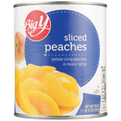 Big Y Sliced Yellow Cling Peaches In Heavy Syrup