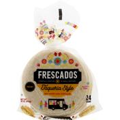 Frescados Tortillas, White Corn, Taqueria Style, Mini