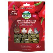Oxbow Small Animal Health Simple Rewards Bell Pepper Oven Baked Fiber Treats