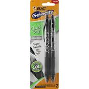 BiC Gel Pen, Black Ink, Quick Dry, Medium