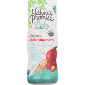 Nature's Promise Whole Grain Puffs, Organic, Apple Strawberry