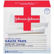 """Red Cross® Johnson & Johnson Large 4"""" X 4"""" First Aid Covers Gauze Pads"""