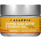 Alaffia Whipped Shea Butter & Coconut Oil, Unscented