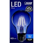 Feit Electric Light Bulb, LED, Blue, 4.5 Watts