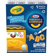 Kraft Macaroni & Cheese Dinner with ABC Pasta Shapes & Crayola Coloring Boxes