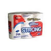 Meijer Ultra Strong 6 Double Rolls Premium Bath Tissue