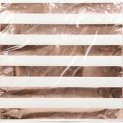 Unique Napkins, Rose Gold Stripes, 2 Ply