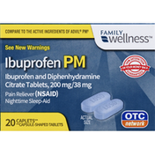 Family Wellness Ibuprofen, PM, Caplets