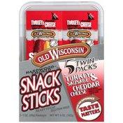Snack Sticks Hardwood-Smoked Turkey Sausage & Cheddar Cheese Twin Packs