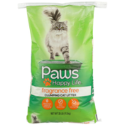 Paws Happy Life Clumping Cat Litter, Fragrance Free