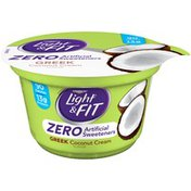 Dannon Zero Artificial Sweeteners Coconut Cream Nonfat Yogurt
